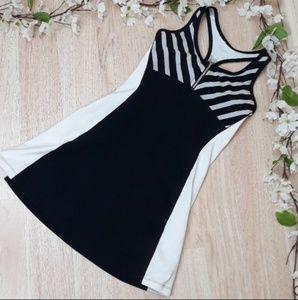 Bebe Sport Mini Tennis Dress Black and White